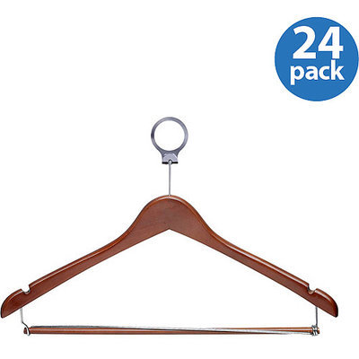 Honey Can Do HNG-01736 Cherry Hotel Hangers- Locking Bar
