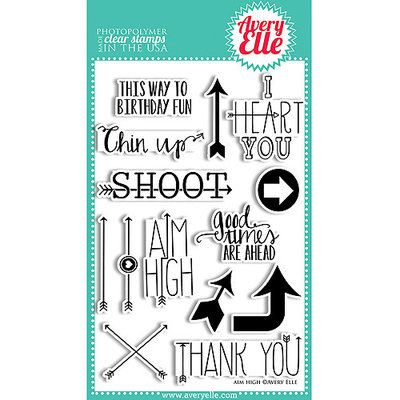 Avery Elle AE1345 Avery Elle Clear Stamp Set 4 in. X6 in-Thanks A Bunch