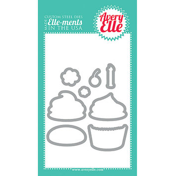 Avery Elle D1314 Elle-Ments Dies-Cupcakes