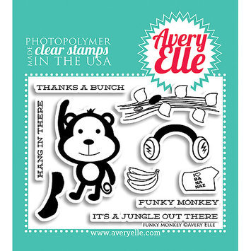 Avery Elle AE1303 Avery Elle Clear Stamp Set 4 in. X3 in. -What ft. s Up