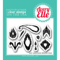 Avery Elle AE1323 Avery Elle Clear Stamp Set 2 in. X3 in. -Ikat Additions