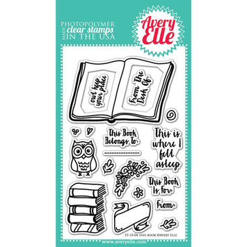 Avery Elle Clear Stamp Set 4inX6inThis Book