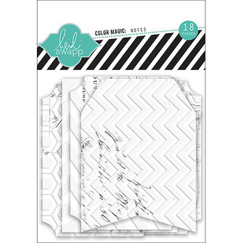 Heidi Swapp Color Magic Notes Resist Tags 18/Pkg