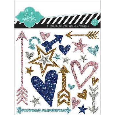 Heidi Swapp Hello Today Puffy Glitter Stickers 4.5