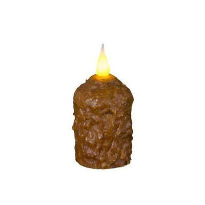 Delighted Home MC-WVBR Hand-Waxed Battery-Operated Brown MC Votive Candle