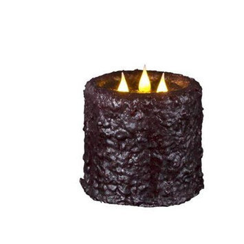 Delighted Home MC-W3BU Hand-Waxed Battery-Operated Burgundy MC 3 Wick Candle