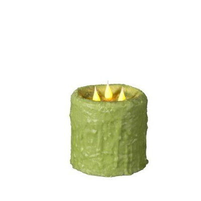 Delighted Home MC-W3AP Hand-Waxed Battery-Operated Apple MC 3 Wick Candle