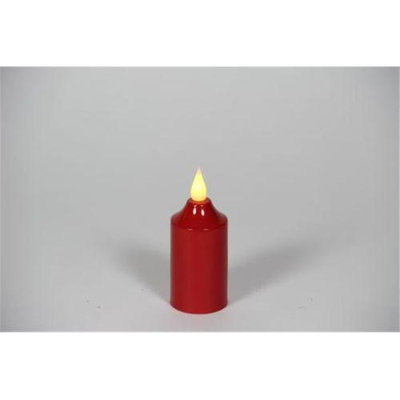 Delighted Home MC-MVR Hand-Waxed Battery-Operated Red MC Votive Candle