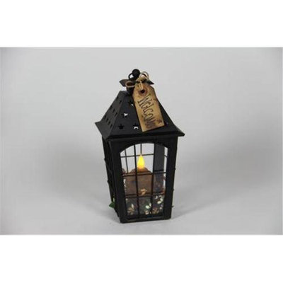 Delighted Home DH-BSSLBR Black Small Star Lantern with Brown Votive and Berry Ring