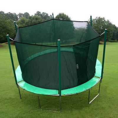 Shooting Star Designs Magic Circle Round Trampoline with Safety Cage