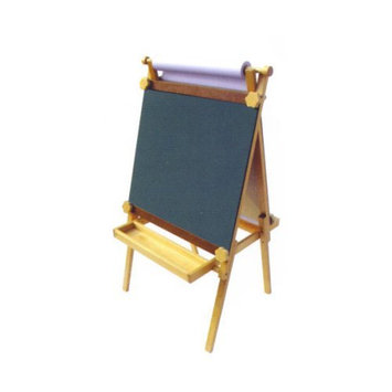 A+ Childsupply F8155 Adjustable Easel with Black-Dry Erase Board