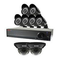 REVO 16 Channel 960H Security System with 1TB Hard Drive, 6 700TVL Bullet Cameras, 2 700TVL Dome Cameras, and 100' Night