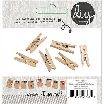 Simple Stories DIY Mini Clothespins 24/Pkg