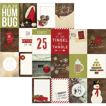 Simple Stories Cozy Christmas Double-Sided Elements Cardstock 12X12-3X4 Journaling Cards