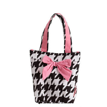 Jessie Steele Giant Houndstooth Bow with Lunch Tote