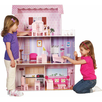 Teamson Kids Fancy Mansion Play House with Furniture