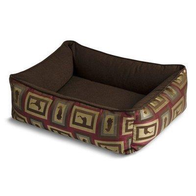 Crypton Show Raspberry Bumper Dog Bed Medium