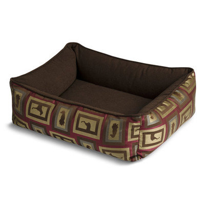Crypton Show Raspberry Bumper Dog Bed Medium
