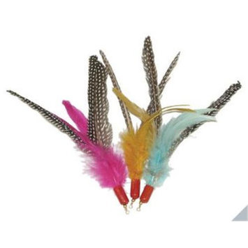Cat Claws Inc. Cat n Around Wands - Feather Flyer Refill 2 Pack (fits Da Bird Wand)