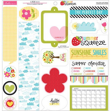 Bella Blvd 754 Summer Squeeze Cardstock Stickers 12X12-Just Write Journaling
