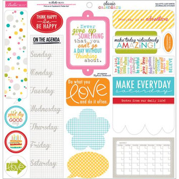 Bella Blvd Classic Calendars Just Write Journaling Scrapbook Sticker Sheet