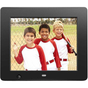 Aluratek 8 Inch Digital Photo Frame With Motion Sensor And 4GB Built-in Memory - 8 Lcd Digital Frame - Black - 800 X 600 - Cable - 43 - Autostart Slideshow, Slideshow, Background Music, (admsf108f)