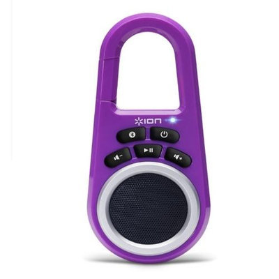 Ion Isp29p Clipster Ultra-portable Wireless Bluetooth[r] Speaker [purple]