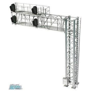 HO B/U Modern Cantilever Signal Bridge, Right Hand BLM4031 BLMA MODELS