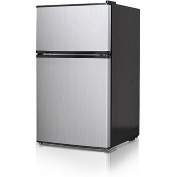 Midea Whd127fss1 Refrigerator/freezer - 3.50 Ft - Manual Defrost - Reversible - 120 V Ac - 75.20 W - Stainless Steel (whd127fss1)
