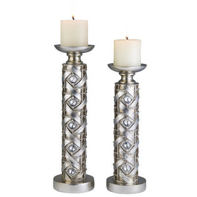 SINTECHNO K-4259-C4 Dazzle Candleholder Set 14-Inch by 16-Inch Height
