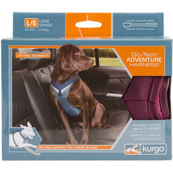 Kurgo Go-Tech Adventure Raspberry Dog Harness, Large