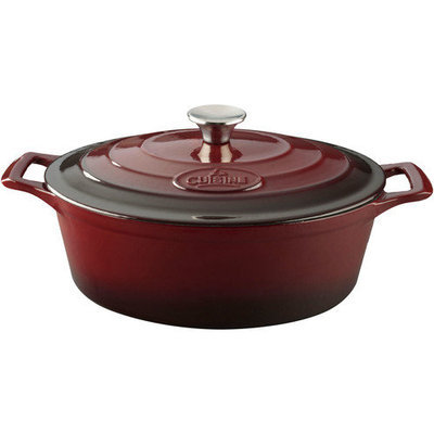 La Cuisine Pro Oval Casserole Color: Cream, Size: 7.4