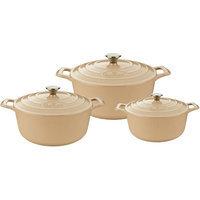 La Cuisine 3 Piece Round Casserole Set Color: Cream