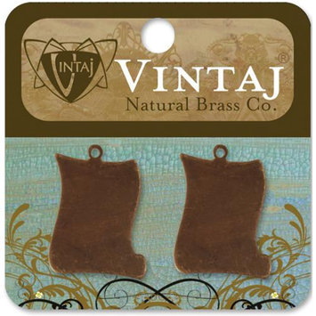 Vintaj 154120 Vintaj Metal Accents 2-Pkg-Petite Scroll 24x16.5mm