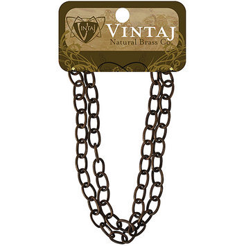 Vintaj Metal Chain 16 Inches-Etched Cable 6.5x9.5mm