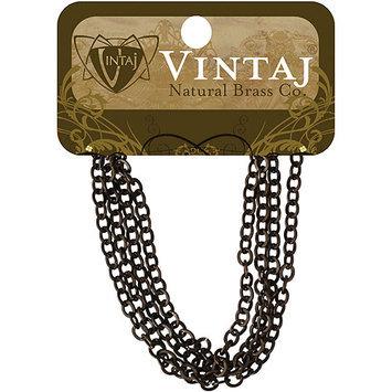 Vintaj 153606 Vintaj Metal Chain 24 Inches-Cable 3.5x4mm