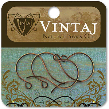 Vintaj Metal Ear Wires 4/Pkg-Round Loop 27x15mm