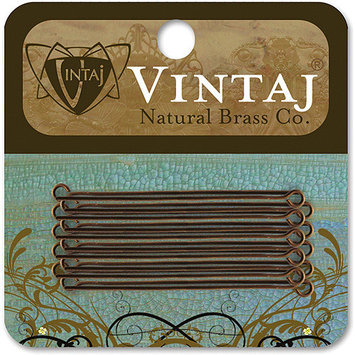 Vintaj 153762 Vintaj Metal Eye Pins 20-Pkg-1.5 Inches