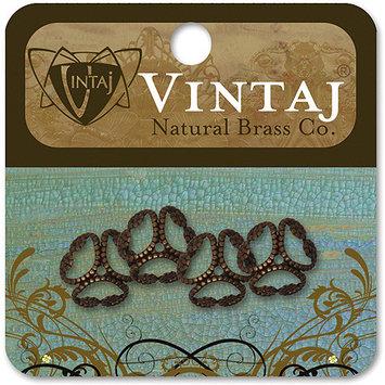 Vintaj 153437 Vintaj Metal Bead Caps 4-Pkg-Etruscan 12mm