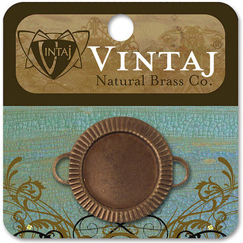 Vintaj 153578 Vintaj Metal Bezel 1-Pkg-Game Piece 22mm