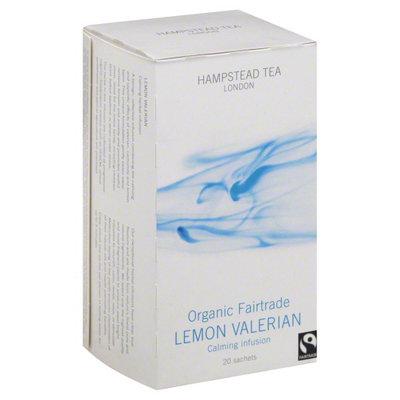 Hampstead Tea Organic Fair Trade Tea Lemon Valerian 20 Tea Bags