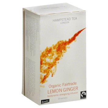 Hampstead Tea Infusion, Lemon Ginger, Organic Fairtrade, 20 sachets