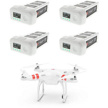DJI Phantom 2 Replacement RC Quadcopter Drone LiPO Battery by Venom - 4 Pack