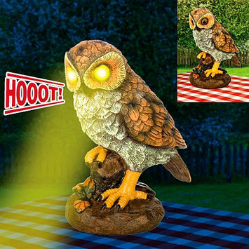 Taylor Gifts Light Up Hooting Garden Owl