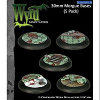 Wyrd Miniatures 26 Base Inserts Morgue 30mm Bases - 5