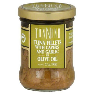 Tonnino Tuna Fillets with Capers and Garlic in Olive Oil 6.7 oz
