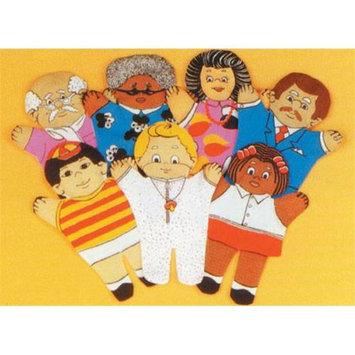 Dexter Educational Toys DEX810W Family 7 Piece Puppet Set - Caucasian