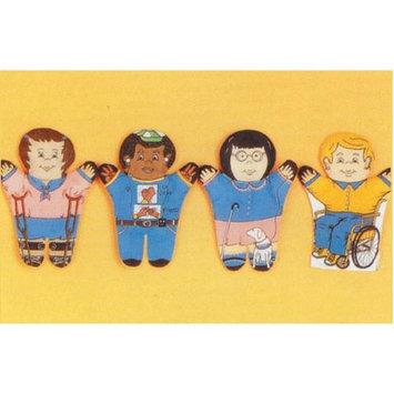 Dexter Educational Toys DEX830M Special Needs 4 Piece Puppet Set - Multicultural