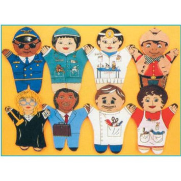 Dexter Educational Toys DEX730M Set of 8 Puppets Occupations