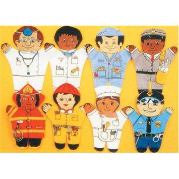 Dexter Educational Toys DEX850B Community 8 Pieces Puppet Set - African-American